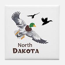 MALLARDS NORTH DAKOTA Tile Coaster