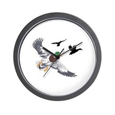 SMALL MALLARDS IN FLIGHT Wall Clock