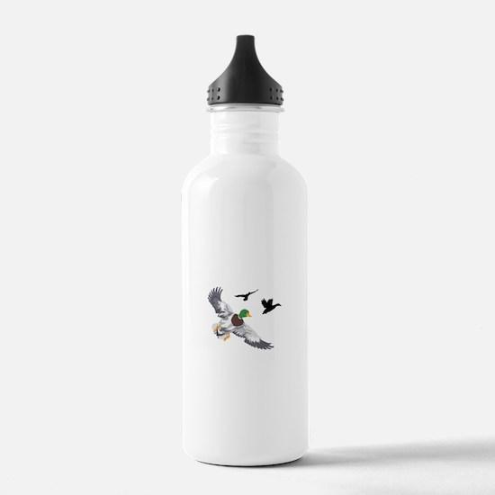 SMALL MALLARDS IN FLIGHT Water Bottle