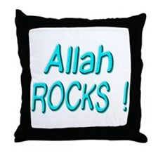 Allah Rocks ! Throw Pillow