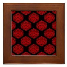 Geeky Dice Framed Tile