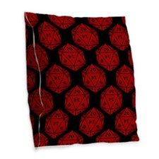 Geeky Dice Burlap Throw Pillow