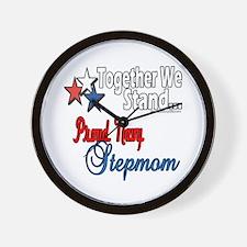 Proud Navy Stepmom Wall Clock