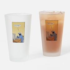 Cookie Monster - delete Cookies! Drinking Glass