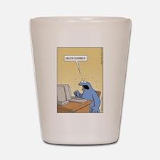 Cookie Monster - delete Cookies! Shot Glass