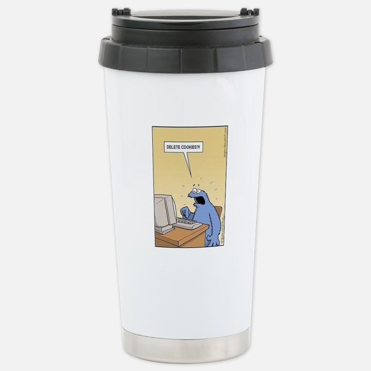 Cookie Monster - delete Cookies! Travel Mug