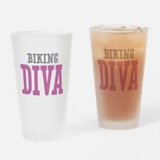 Biking DIVA Drinking Glass