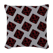 Geeky Dice Woven Throw Pillow