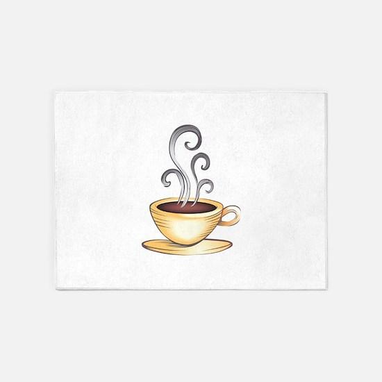 HOT COFFEE 5'x7'Area Rug