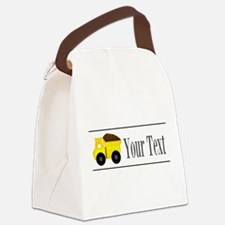 Personalizable Dump Truck Canvas Lunch Bag