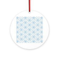 Flower of Life Lt Blue/Wt Ornament (Round)