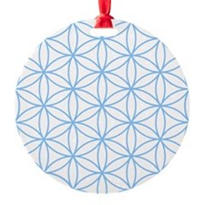 Flower of Life Lt Blue/Wt Ornament