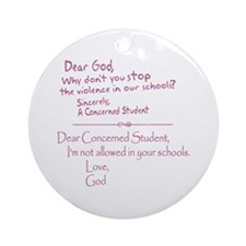 God Not Allowed in School Ornament (Round)