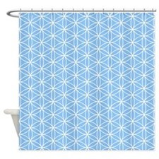 Flower Of Life Wt/lt Blue Ptn Shower Curtain