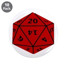 "Geeky Dice 3.5"" Button (10 pack)"
