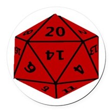 Geeky Dice Round Car Magnet