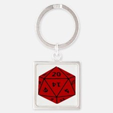 Geeky Dice Keychains