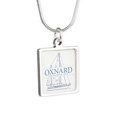 Oxnard CA - Silver Square Necklace