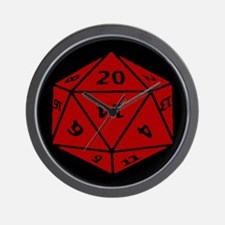 Unique D10 Wall Clock
