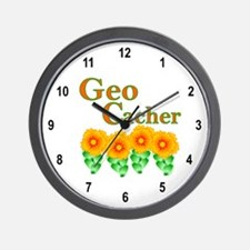 Orange Geocacher Wall Clock