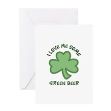LOVE GREEN BEER APPLIQUE Greeting Cards
