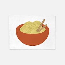 Bowl Of Noodles 5'x7'Area Rug
