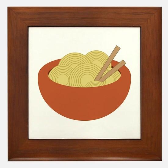 Bowl Of Noodles Framed Tile