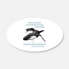 ALL LIVING CREATURES Oval Car Magnet