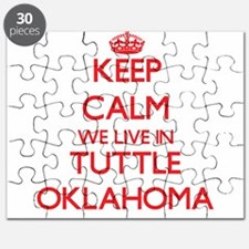 Keep calm we live in Tuttle Oklahoma Puzzle