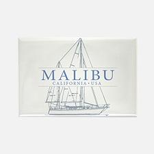 Malibu CA - Rectangle Magnet