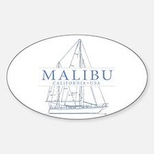 Malibu CA - Sticker (Oval)