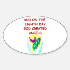 ANGELS.png Sticker (Oval)