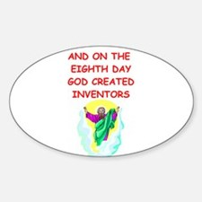 INVENTORS.png Sticker (Oval)
