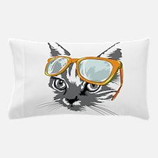Cool Cat Hipster Pillow Case