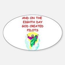 PILOTS.png Sticker (Oval)