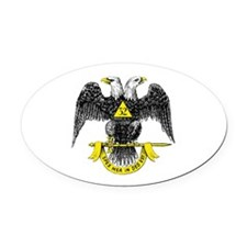 Freemasonry Scottish Rite Oval Car Magnet