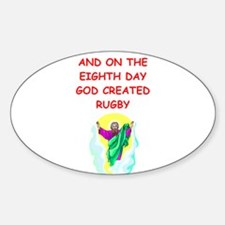 RUGBY.png Sticker (Oval)