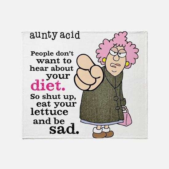Aunty Acid: Lettuce Diet Throw Blanket