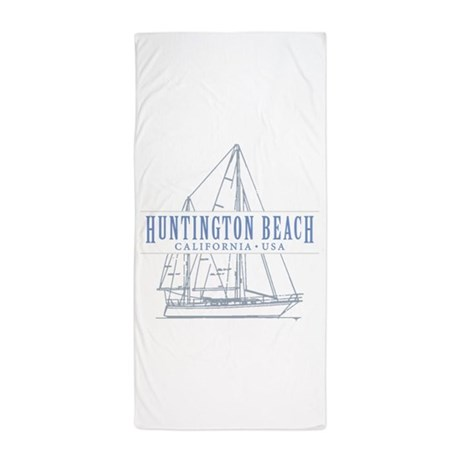 Huntington beach beach towel by tropicspot for Huntington card designs