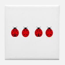 Ladybugs Tile Coaster