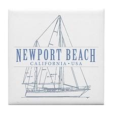 Newport Beach - Tile Coaster