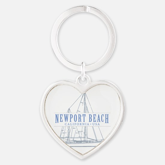 Newport Beach - Heart Keychain