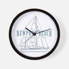 Newport Beach - Wall Clock