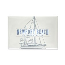 Newport Beach - Rectangle Magnet (10 pack)