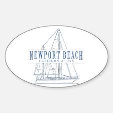 Newport Beach - Sticker (Oval)