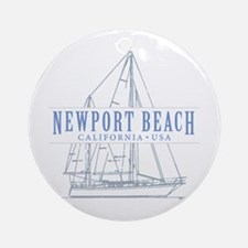 Newport Beach - Ornament (Round)