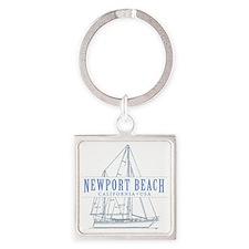 Newport Beach - Square Keychain