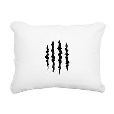 PUFFY FOAM CLAW MARKS Rectangular Canvas Pillow