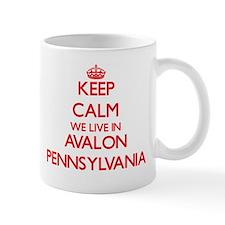 Keep calm we live in Avalon Pennsylvania Mugs