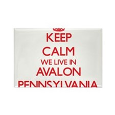 Keep calm we live in Avalon Pennsylvania Magnets